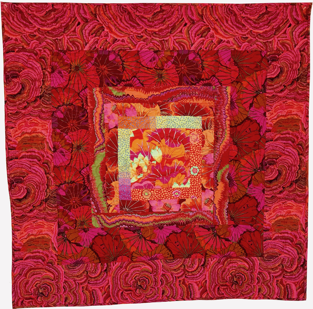Quilt 2050 Pink Plush with Orange - SOLD