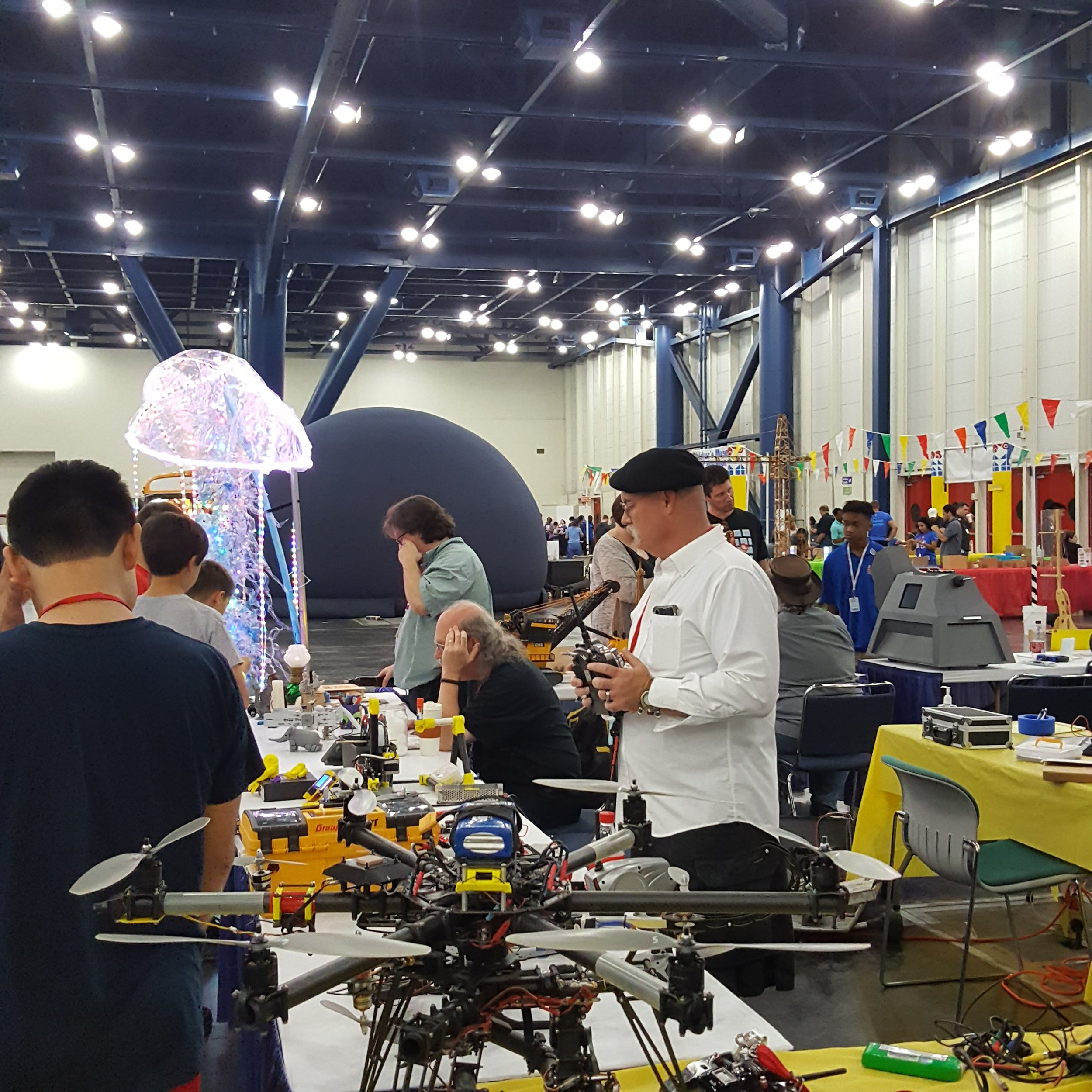 Legos and Drones and LEDs, oh my! Houston Maker Faire was an exciting venue.