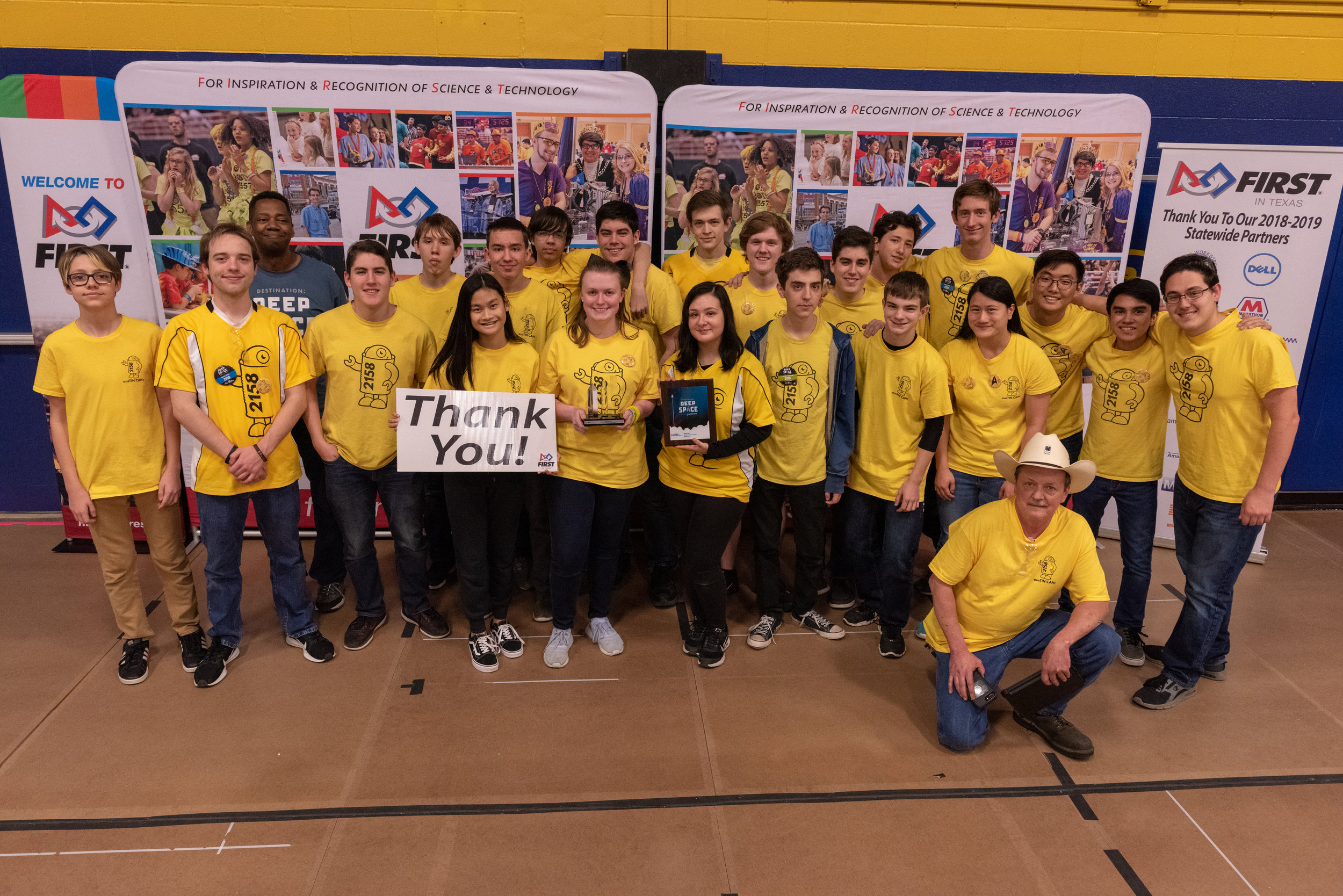 FRC team received the Judges' Award and were Tournament Finalists at the 2019 Week 1 District Event.