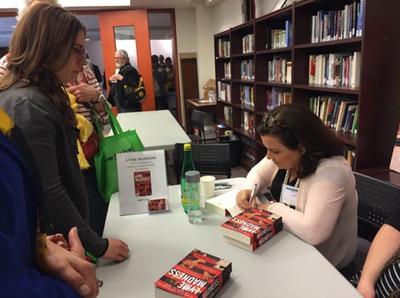Author, Lori Dennis, at book signing