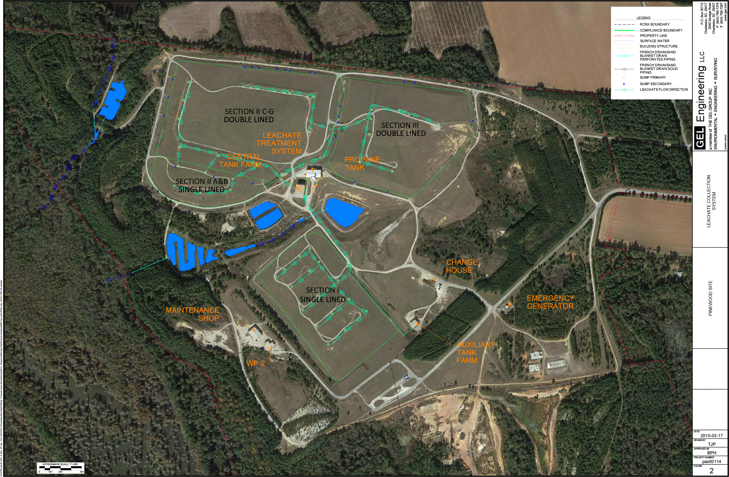 Leachate Collection System Map | The Pinewood Site