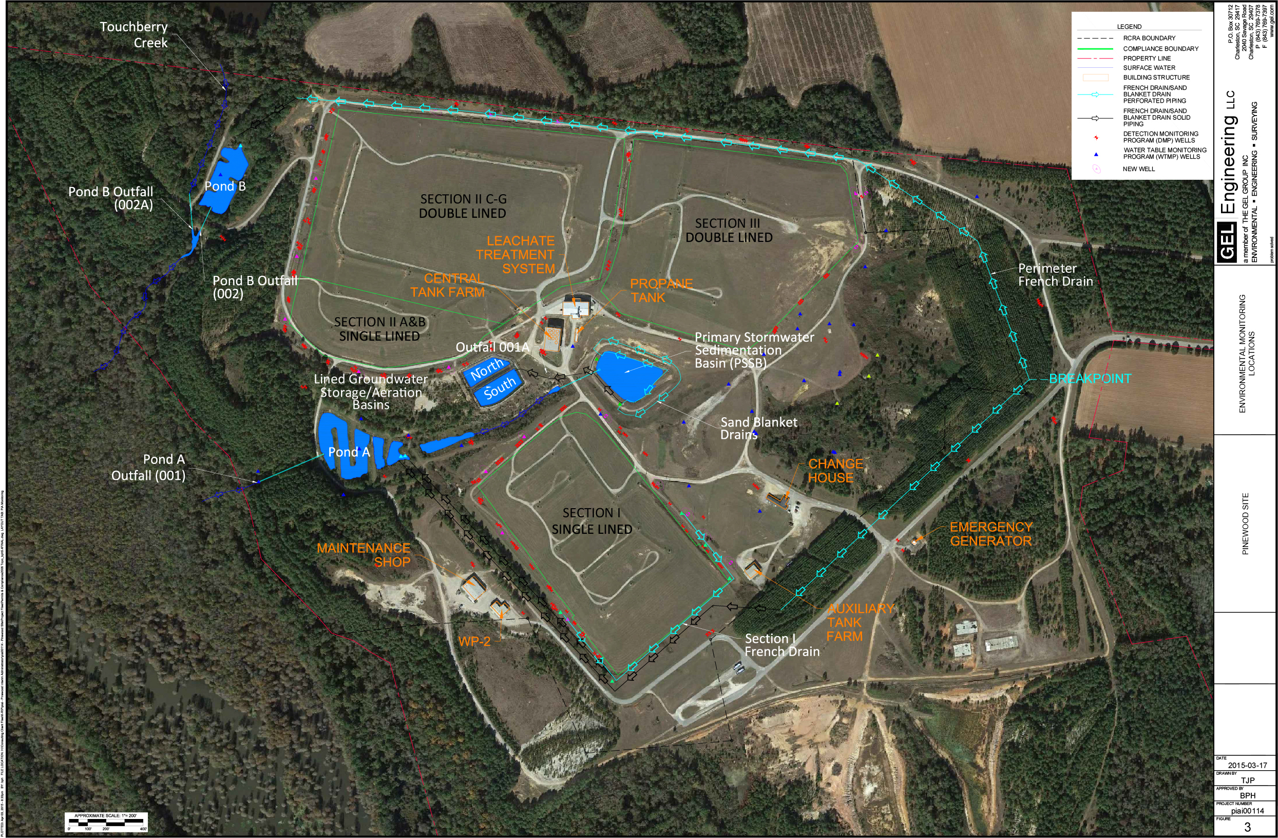 Environmental Monitoring Locations | The Pinewood Site