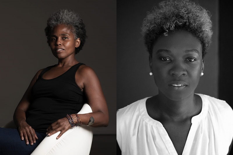 Left: Sandra Brewster, photo by Jalani Morgan; right: Canisia Lubrin