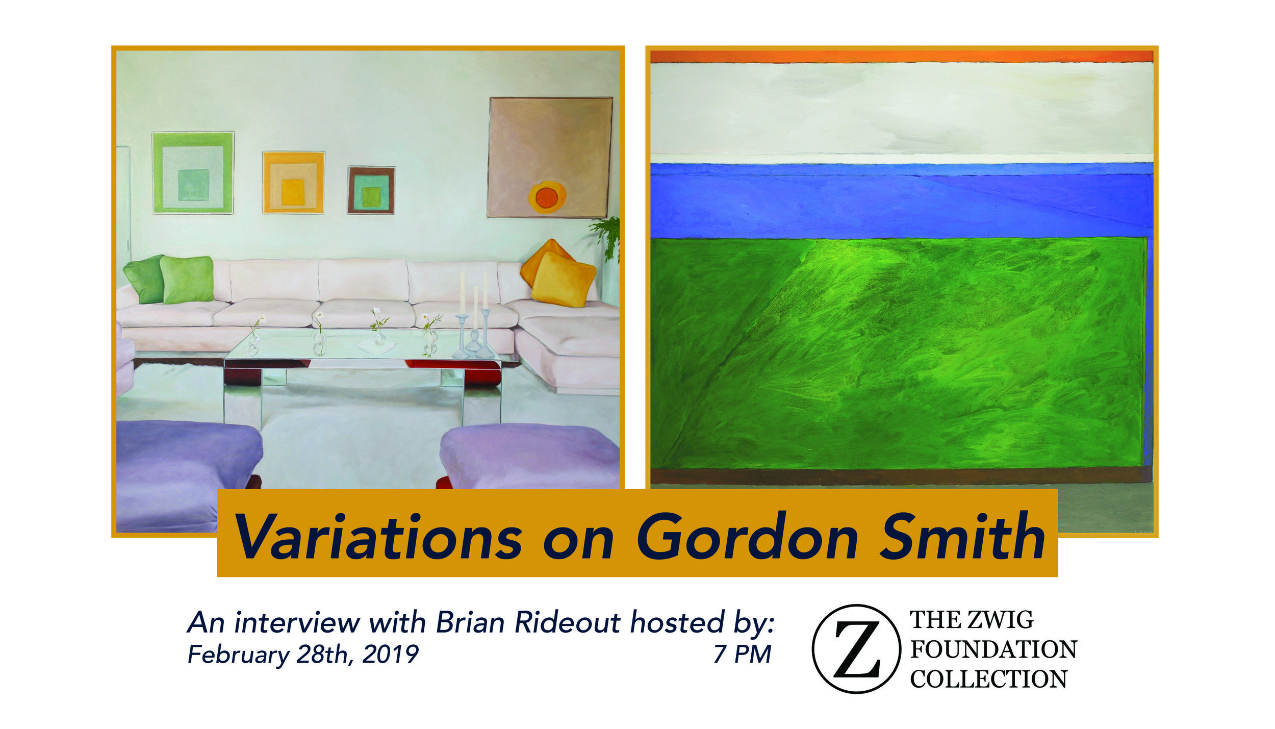 Variations on Gordon Smith - Brian Rideout is a realist painter working through traditions within art history, to create archival portraits of Mid-Century American painting and design. On February 28th, 2019, we spoke with Rideout about the work of Gordon Smith, discussing themes of collecting, art history, canonization, and abstraction vs. realism.