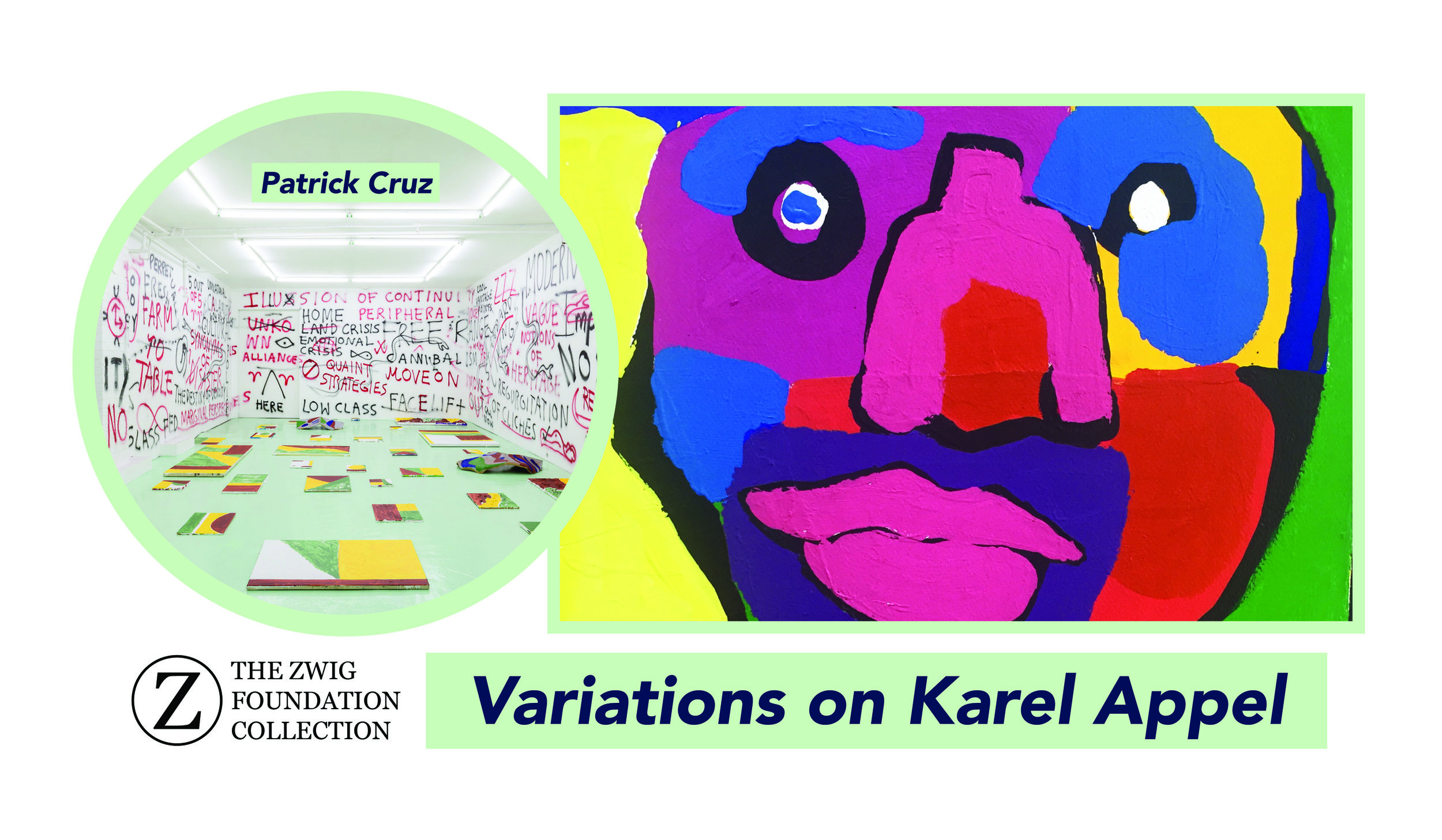Variations on Karel Appel - Patrick Cruz is a Toronto-based artist who uses unconventional tools such as play and intuition to create thoughtful works of art. His work deals with a variety of themes such as colonialism, tradition, modernity and hybrid identities. Cruz won the RBC Canadian Painting Competition in 2015 and was recently longlisted for the prestigious Sobey Art Award this past month. We spoke with Cruz about Karel Appel, noted CoBrA co-founder and playful revolutionary.