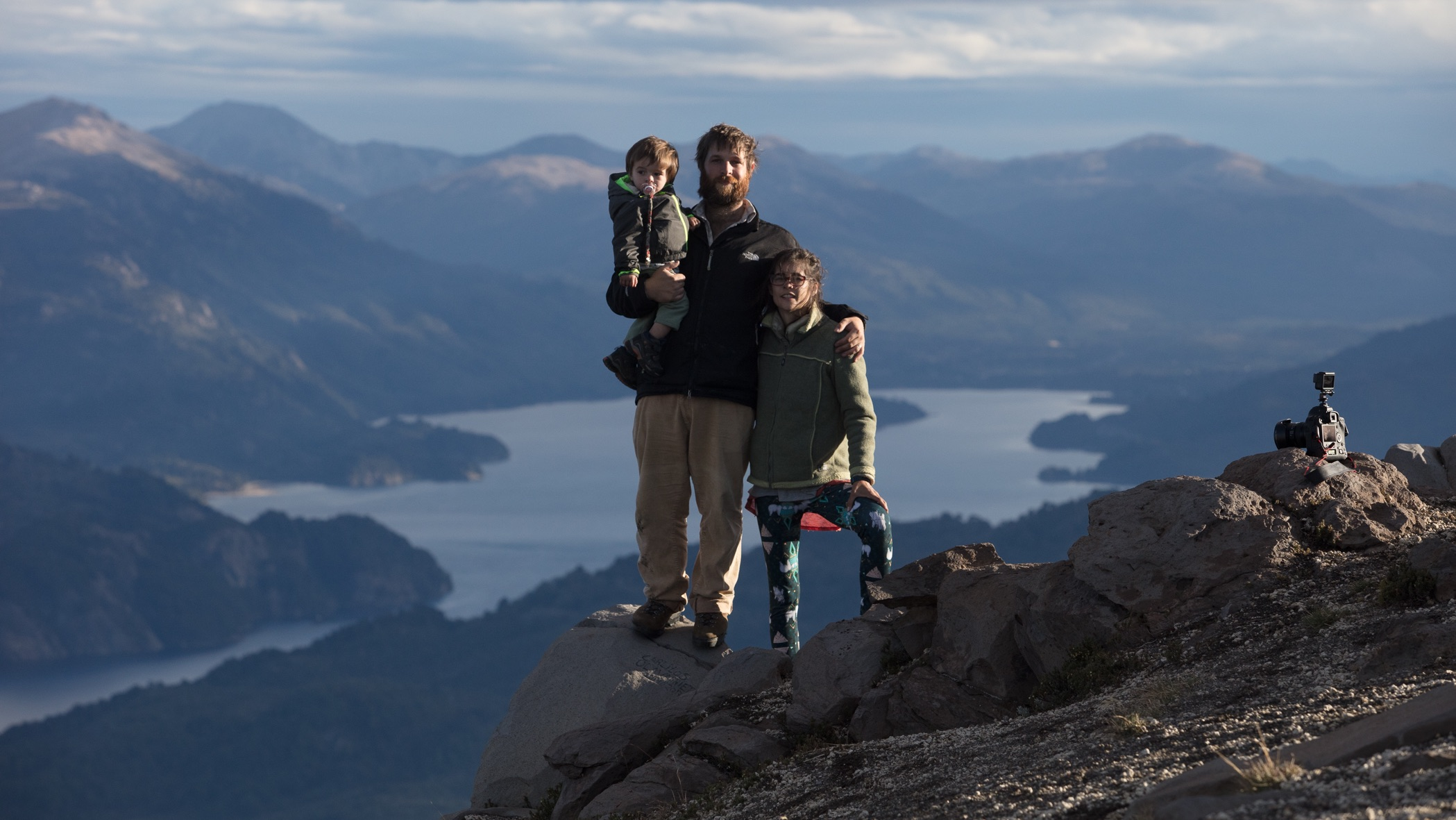 Simón, Inés and their son Teo while travelling through Northern Patagonia - Argentina