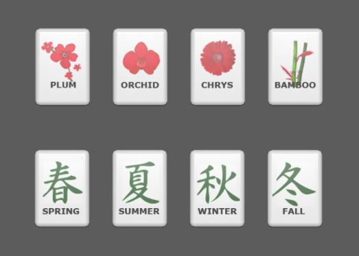 Flower and Season tiles.