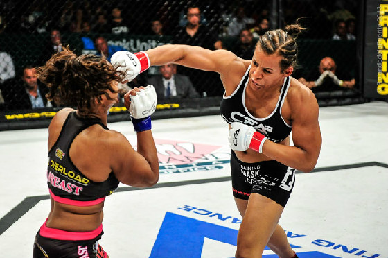 "Above: ""Fallon Fox"" sent a female opponent to hospital with a broken orbital bone and requiring 7 staples."