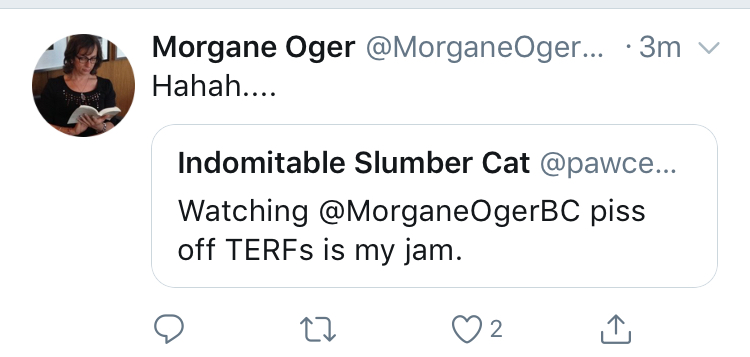 Oger laughs about angering a segment of our population. Is this what we want in our federal politics?
