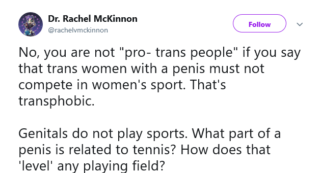 Here, a man with a PhD isn't even aware that it's not nice to cheat. He hopped on a bike and won 1st place in women's cycling events and then tried to convince everyone else that it was morally acceptable. How many years would one have to spend in our education system in order to be able to believe something so stupid?