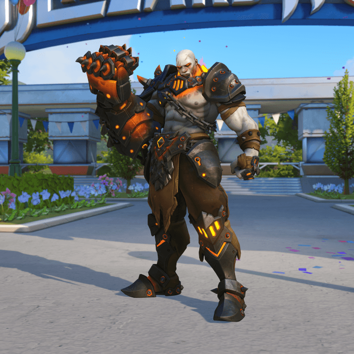 Doomfist Blackhand skin Blizzard World Overwatch