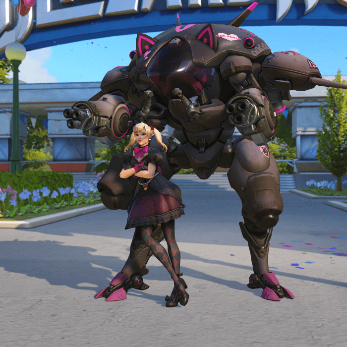 D.Va Black Cat skin Blizzard World Overwatch