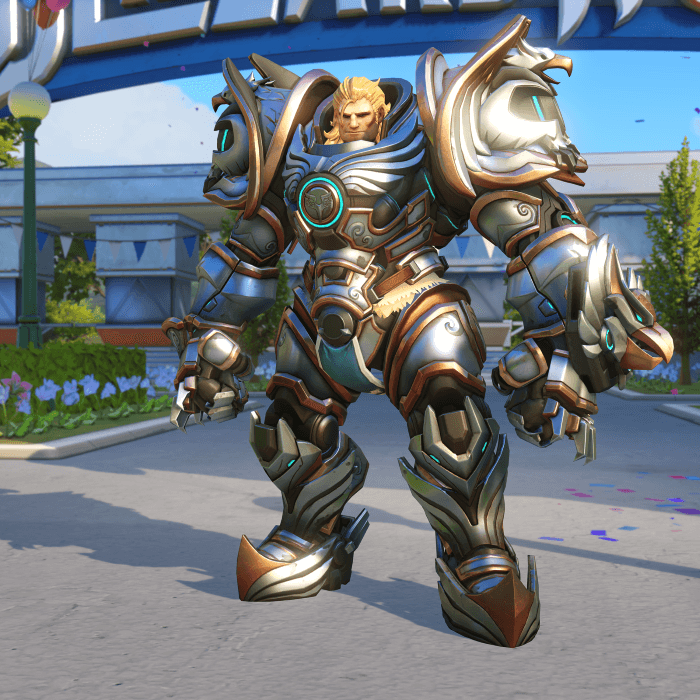 Reinhardt Crusader skin Blizzard World Overwatch