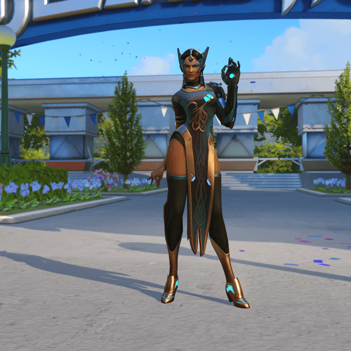 Symmetra Peacock skin Blizzard World Overwatch