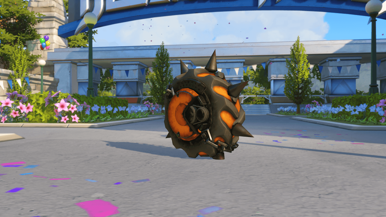 Junkrat Caution wheel Blizzard World Overwatch