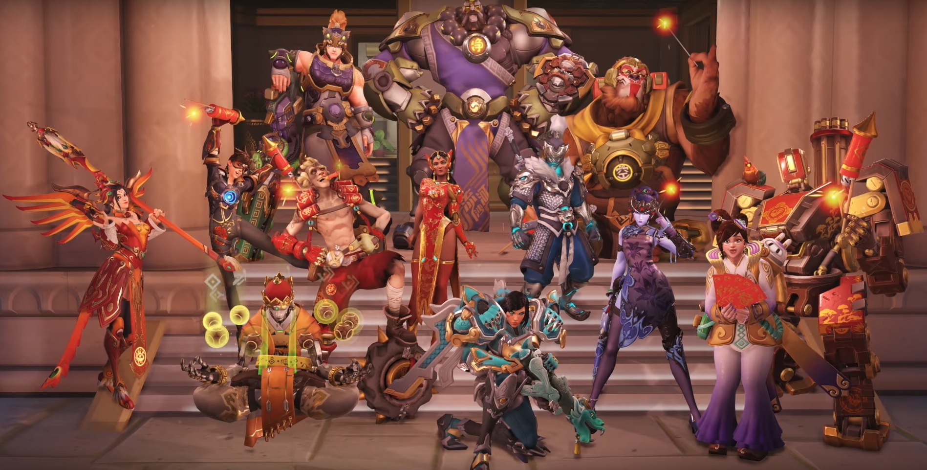 Overwatch Halloween 2020 Emotes And Highlight Intros Lunar New Year 2019: skins, highlight intros, and emotes | Esports