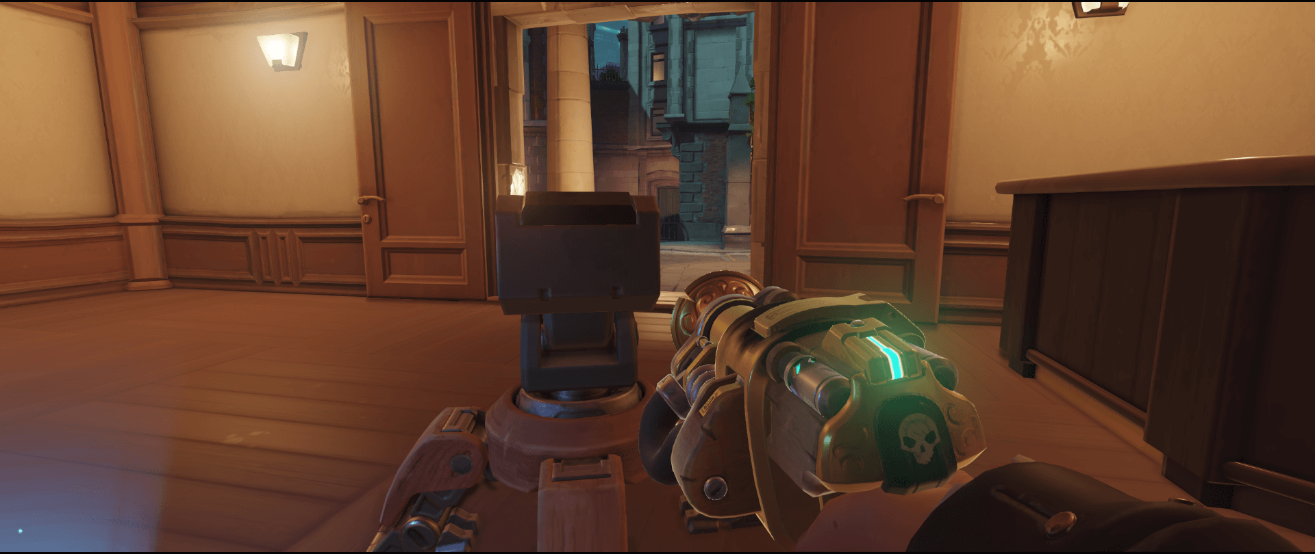 Torbjorn turret spot King's Row first point Overwatch