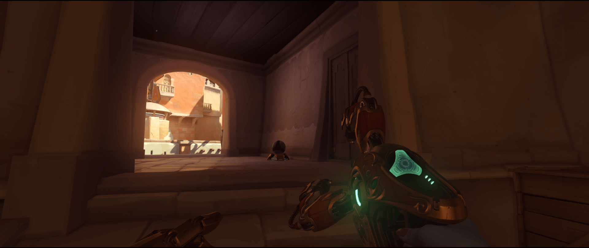 Symmetra shield generator spot Temple of Anubis alternative main point one.png