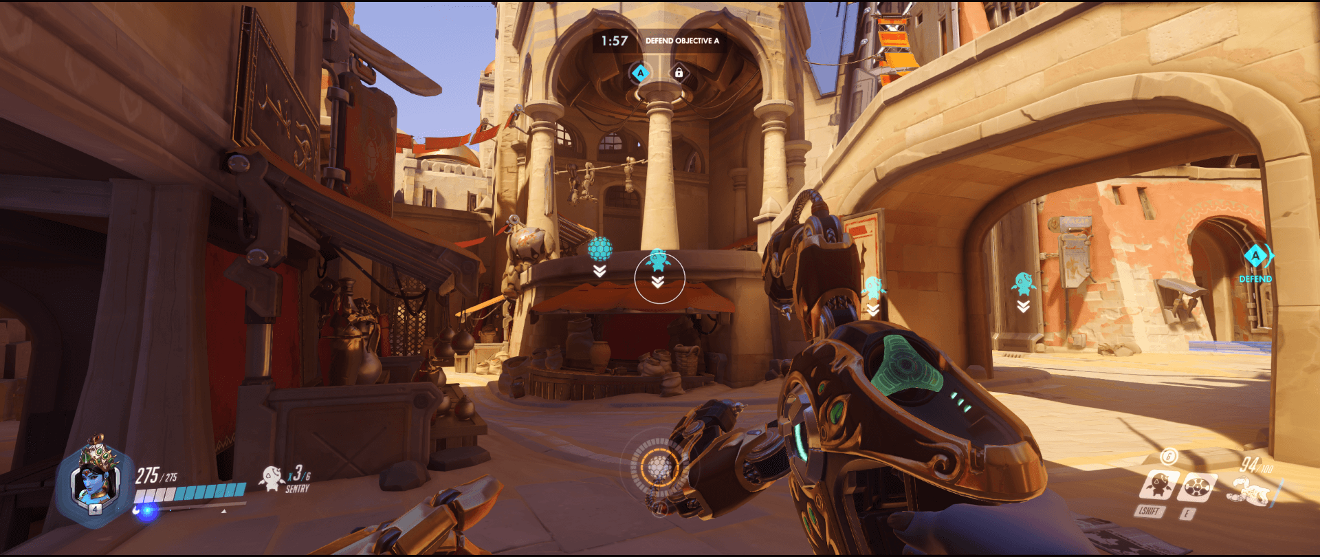 Symmetra shield generator spot Temple of Anubis main point one range 2.png