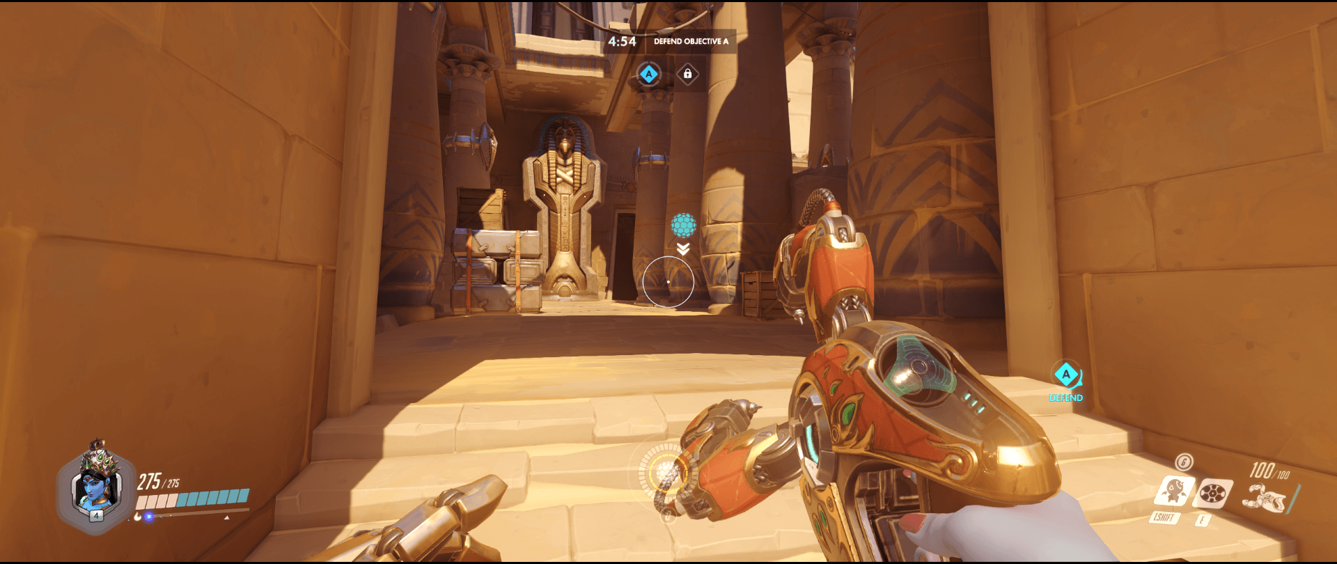 Symmetra shield generator spot Temple of Anubis spawn range point two.png