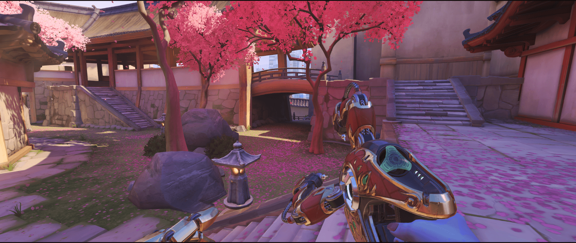 Symmetra Shield Generator spot Hanamura behind bridge point one.png