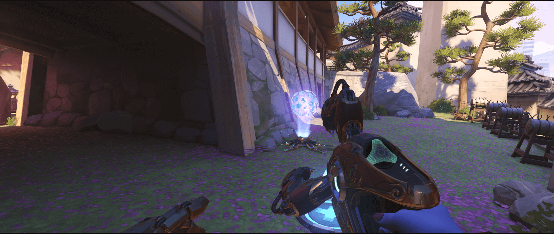 Symmetra Shield Generator spot Hanamura behind bridge point one 2.png
