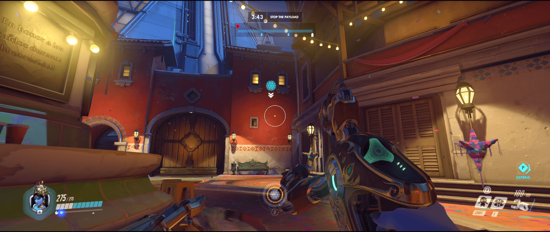 Symmetra shield generator spot Dorado stairs range first point.png