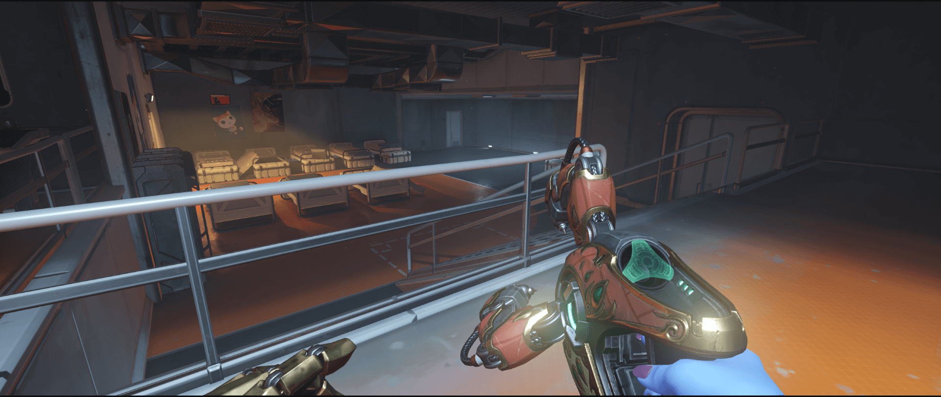 Symmetra shield generator spot Watchpoint Gibraltar spawn second point.png