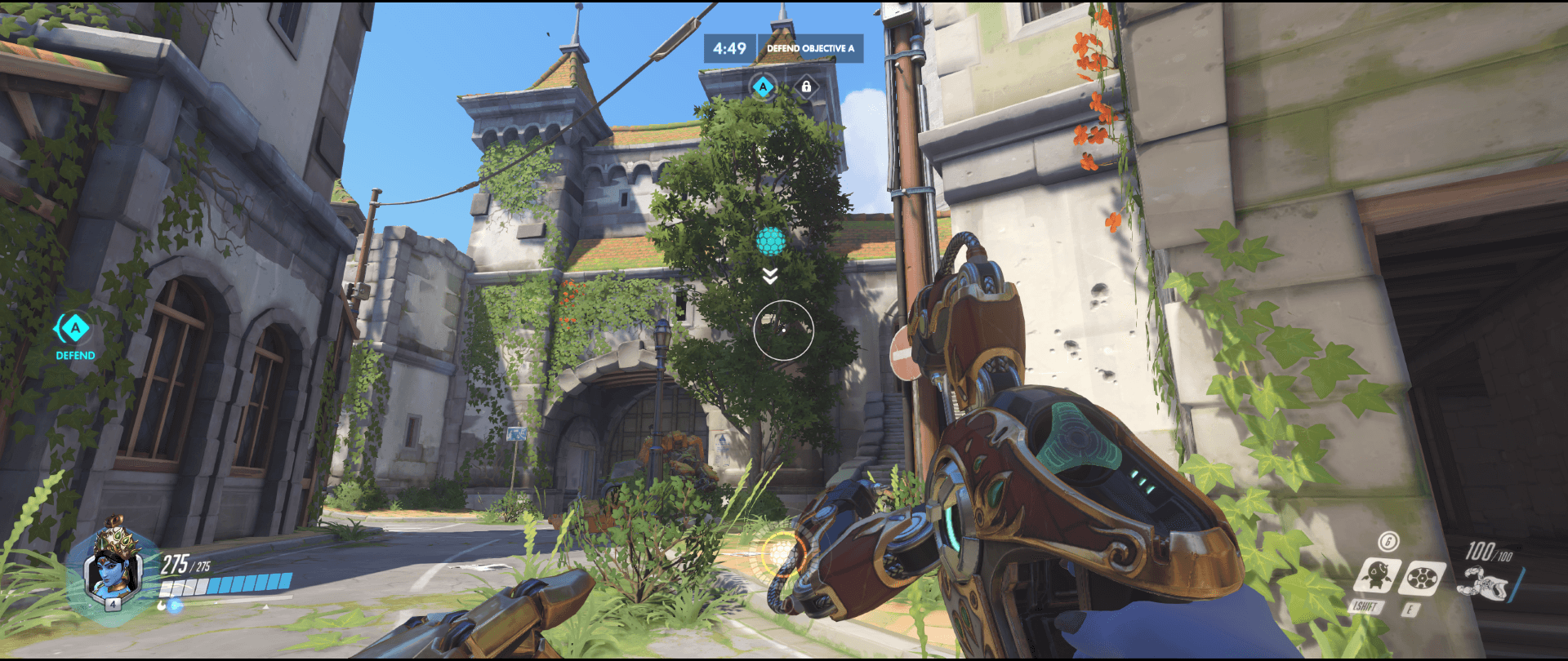 Symmetra shield generator spot Eichenwalde  main range first point.png