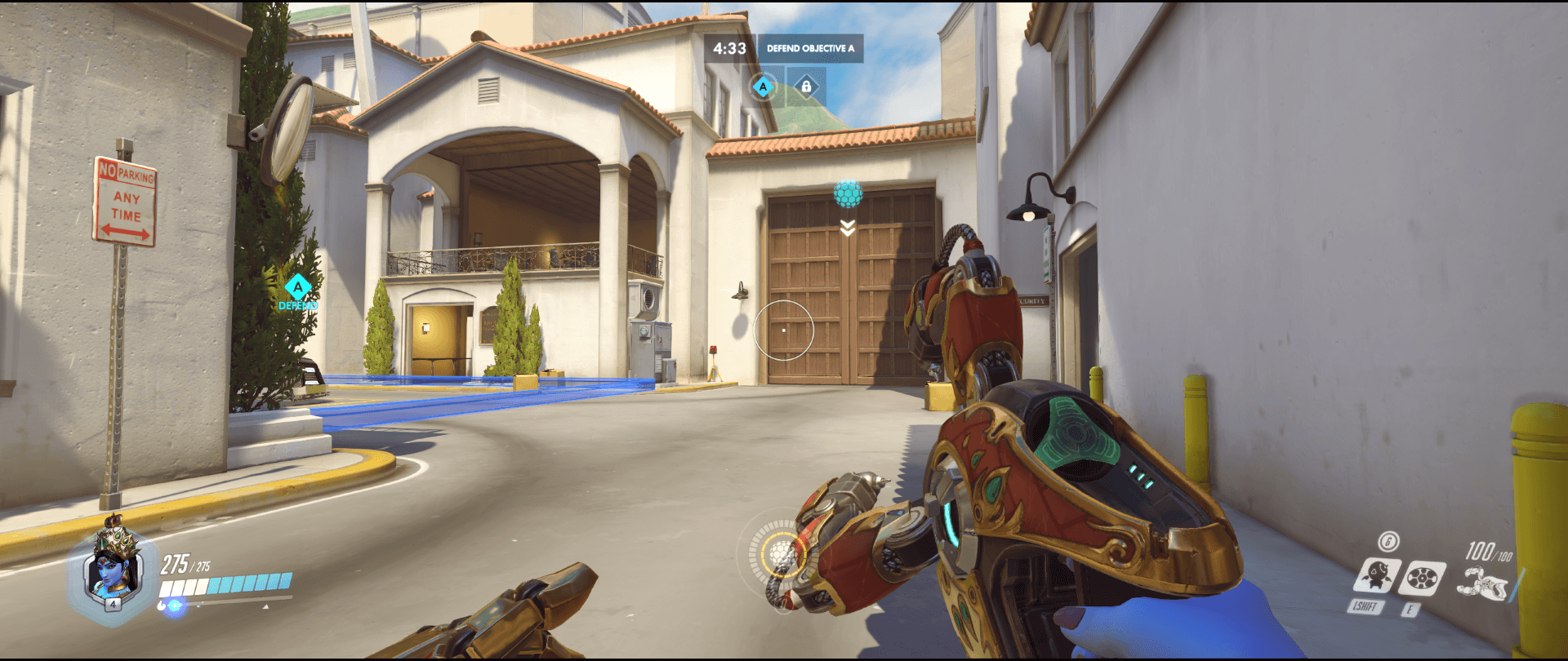 Symmetra shield generator spot Hollywood main range first point.png