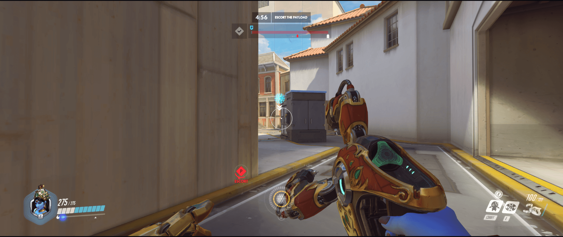 Symmetra shield generator spot Hollywood main range second point.png