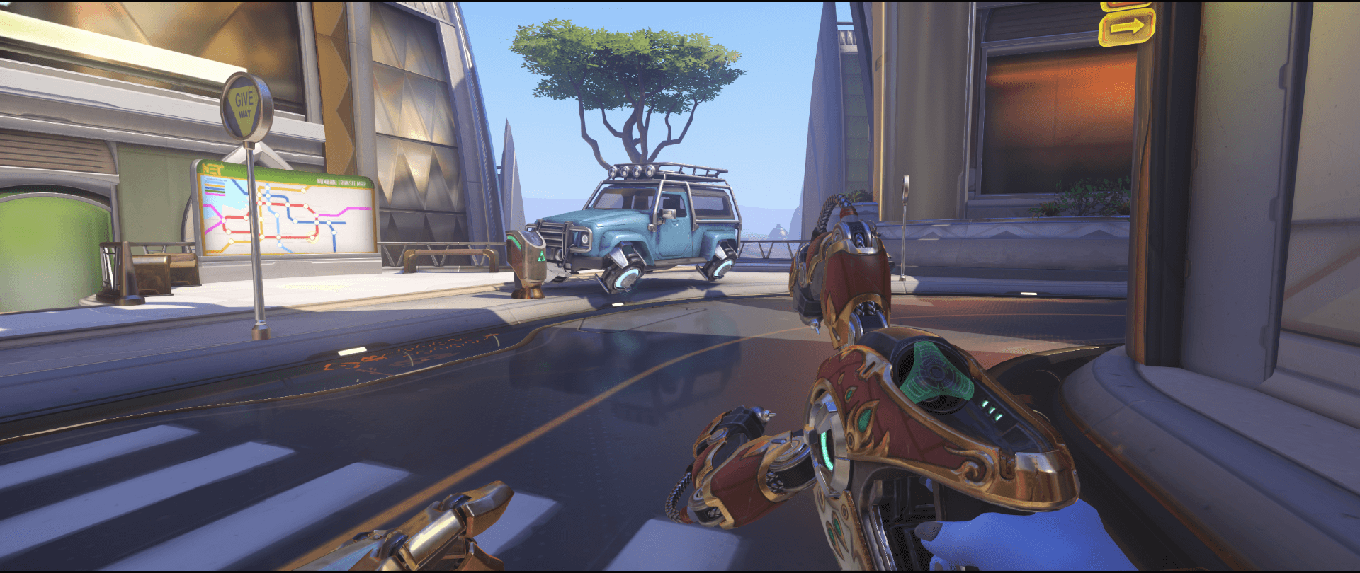 Symmetra shield generator spot Numbani secondary view 2 first point.png