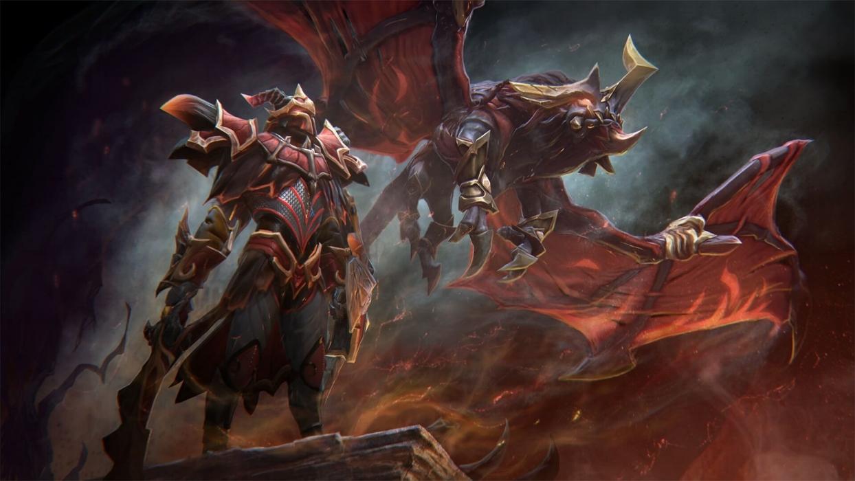 Blazing Oblivion loading screen for Dragon Knight - Valve