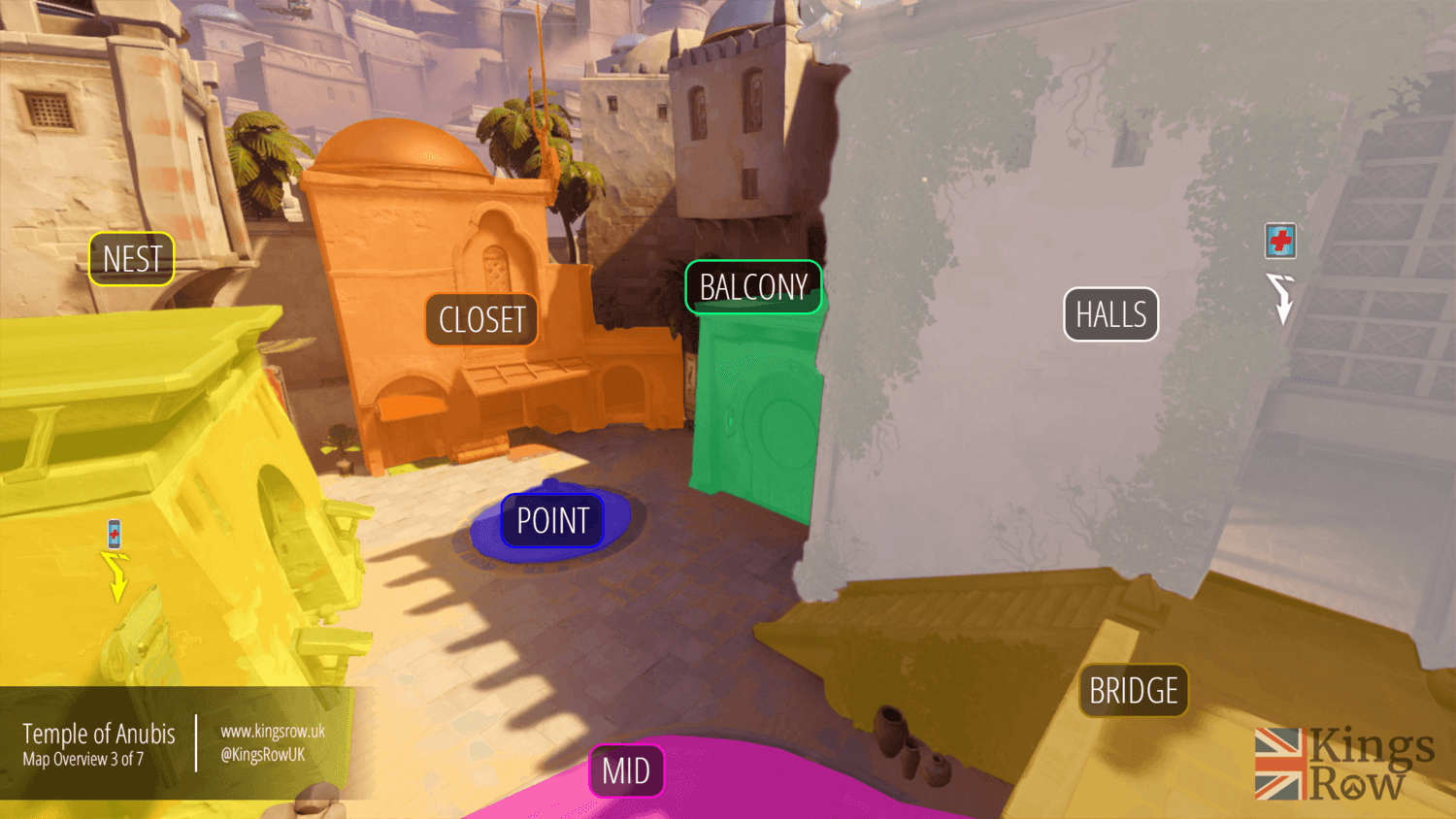 Temple of Anubis map callouts three Overwatch
