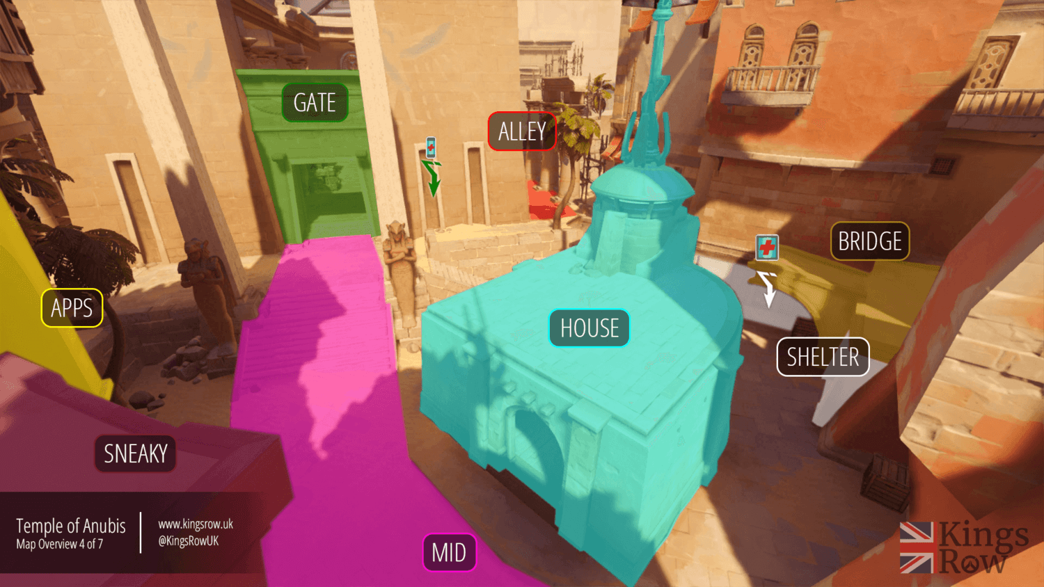 Temple of Anubis map callouts four Overwatch