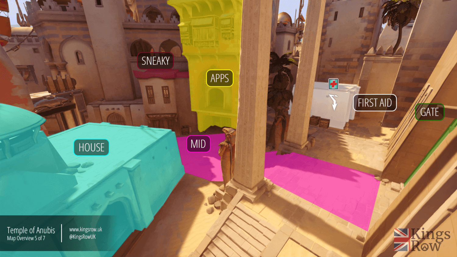 Temple of Anubis map callouts five Overwatch