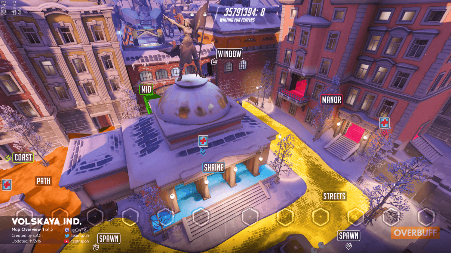 Volskaya Industries map callouts one Overwatch