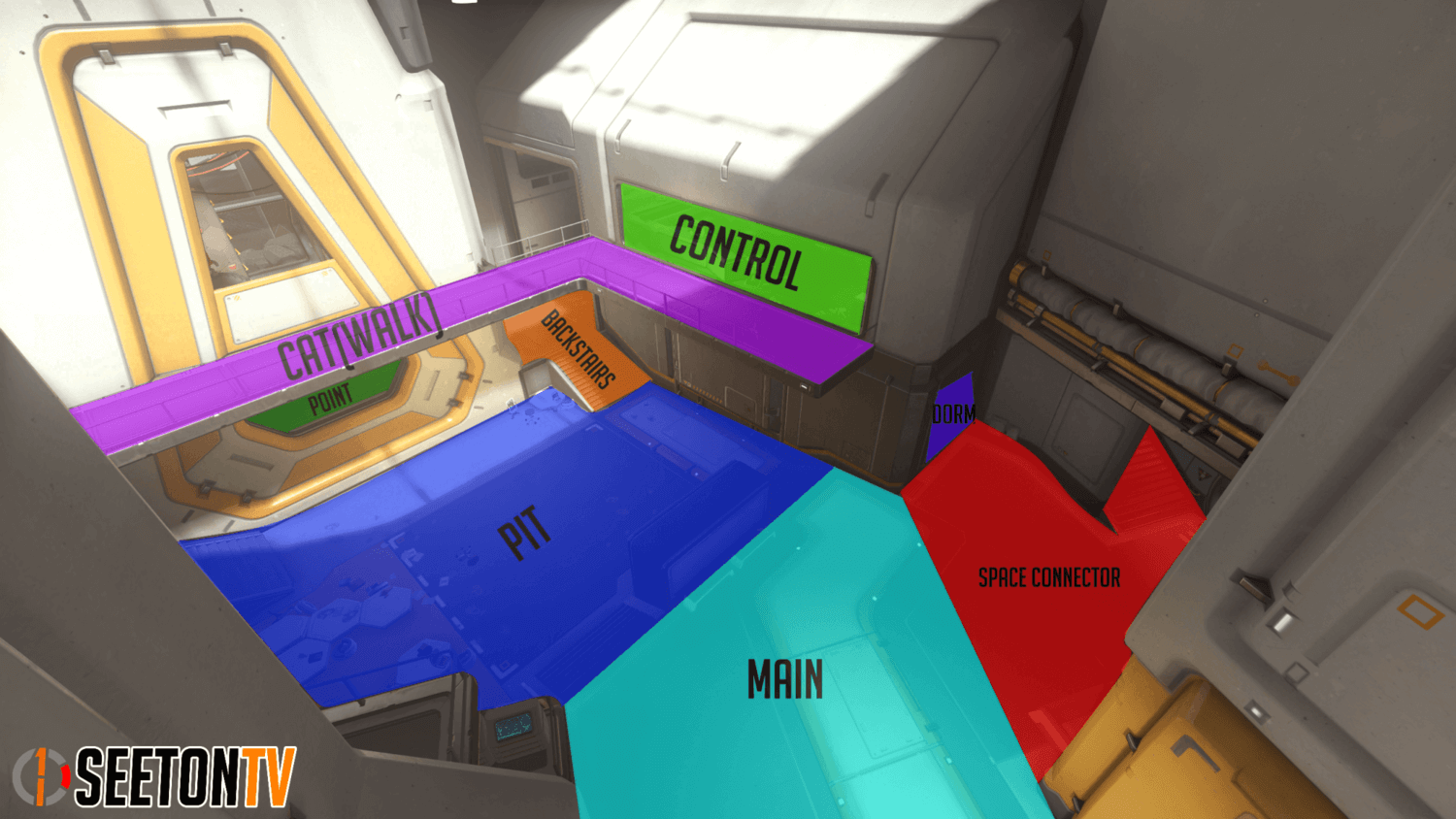 Horizon Lunar Colony map callouts two Overwatch