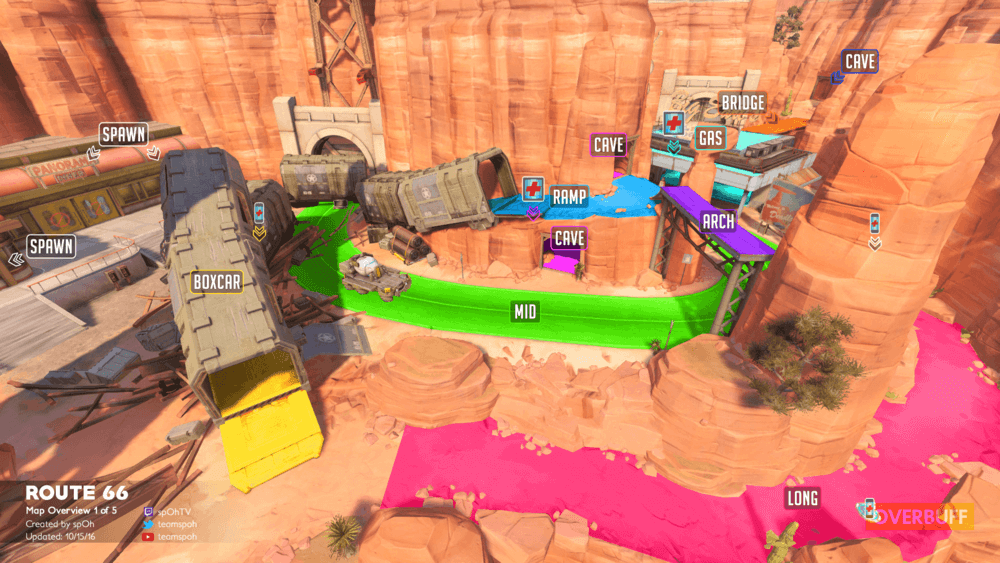 Route 66 map callouts one Overwatch