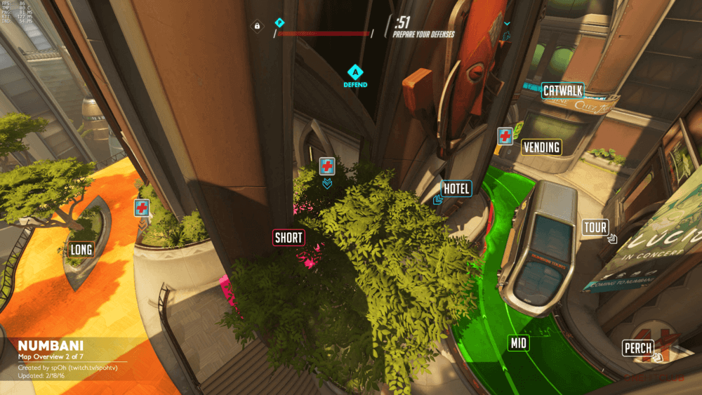 Numbani map callouts two Overwatch