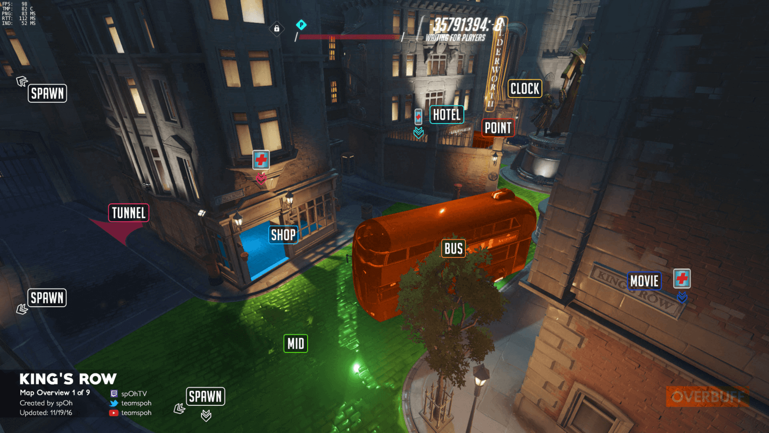 King's Row map callouts one Overwatch