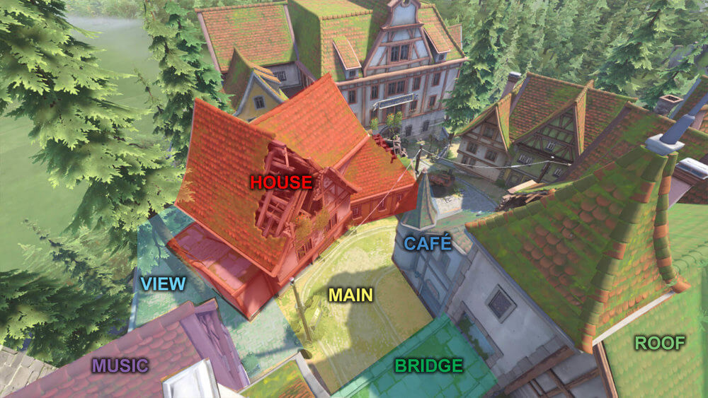 Eichenwalde map callouts one Overwatch
