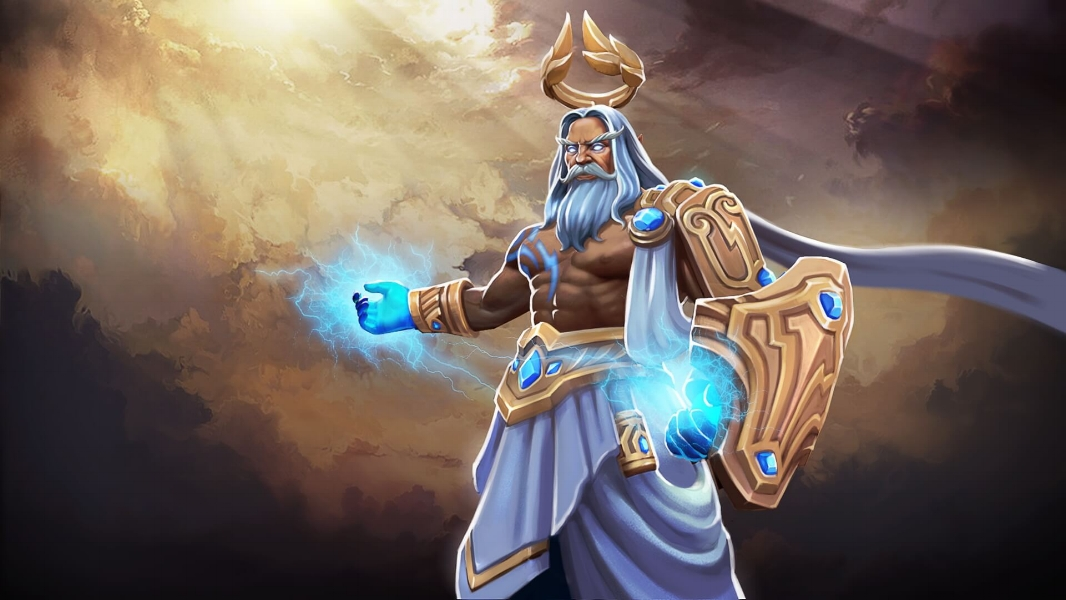 The King Restored loading screen for Zeus - Valve