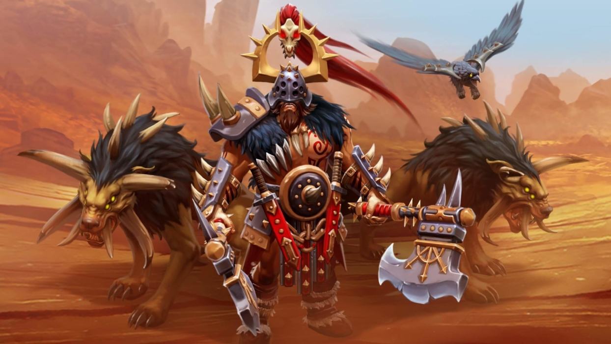 Marauder of the Chaos Wastes loading screen for Beastmaster - Valve
