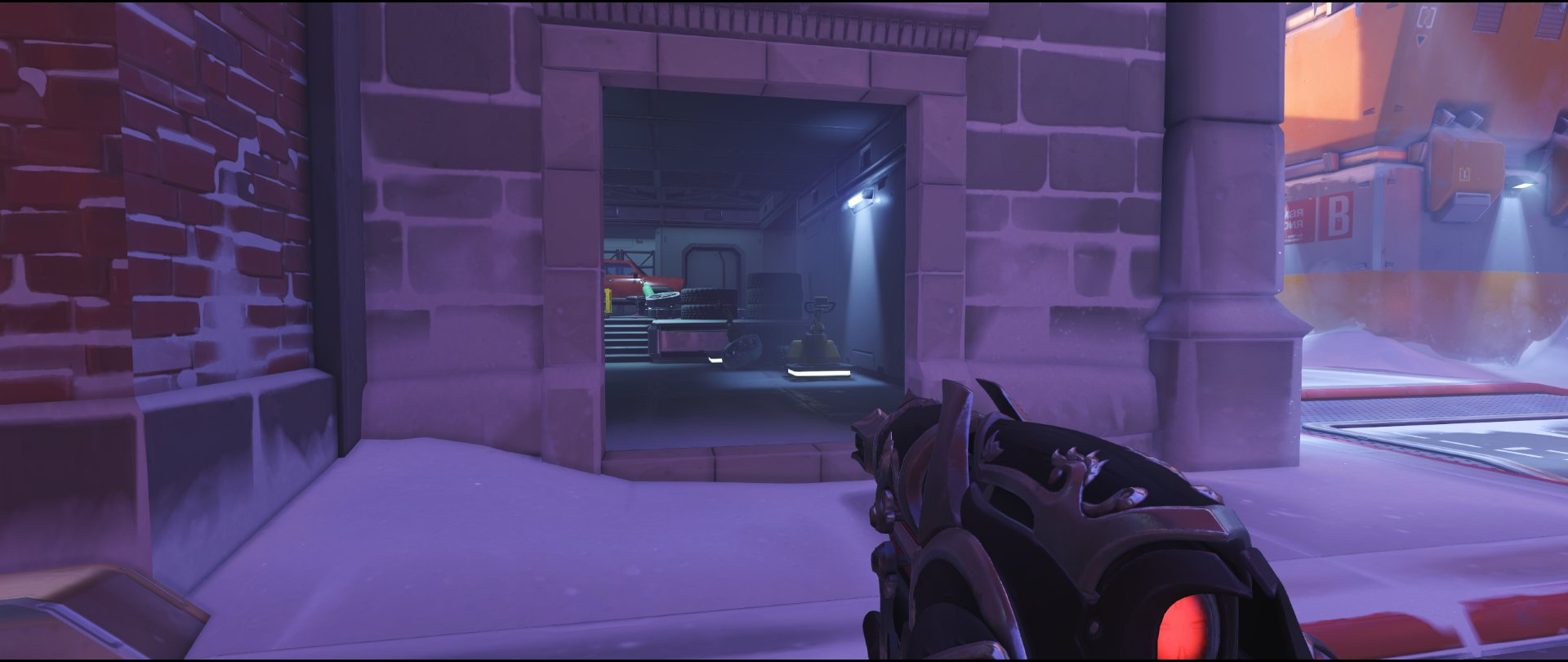 Garage attack sniping spot Widowmaker Volskaya Industries Overwatch.jpg