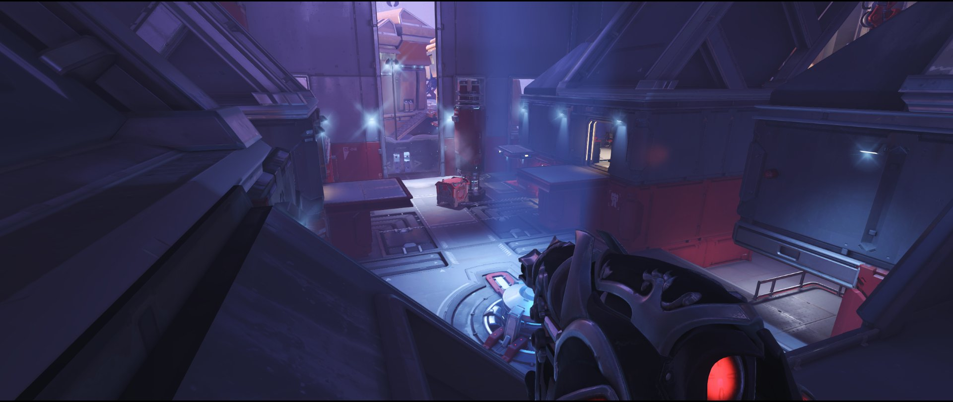 Left high ground bridge defense sniping spot Widowmaker Volskaya Industries Overwatch.jpg