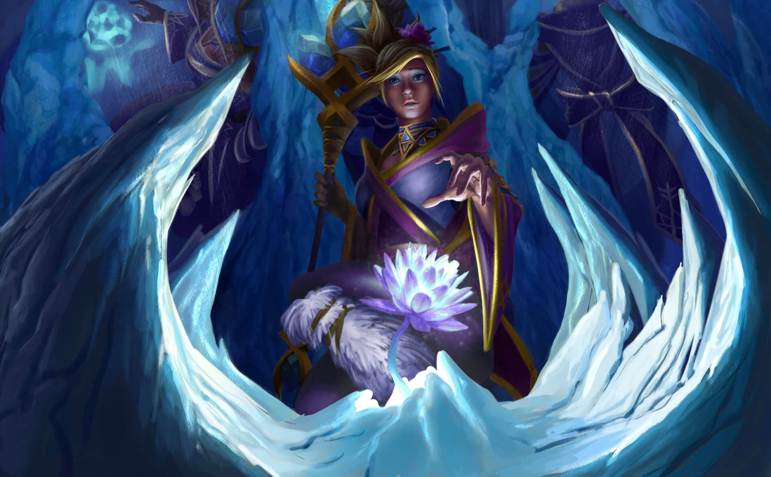 Icebound Floret loading screen for Crystal Maiden - Valve