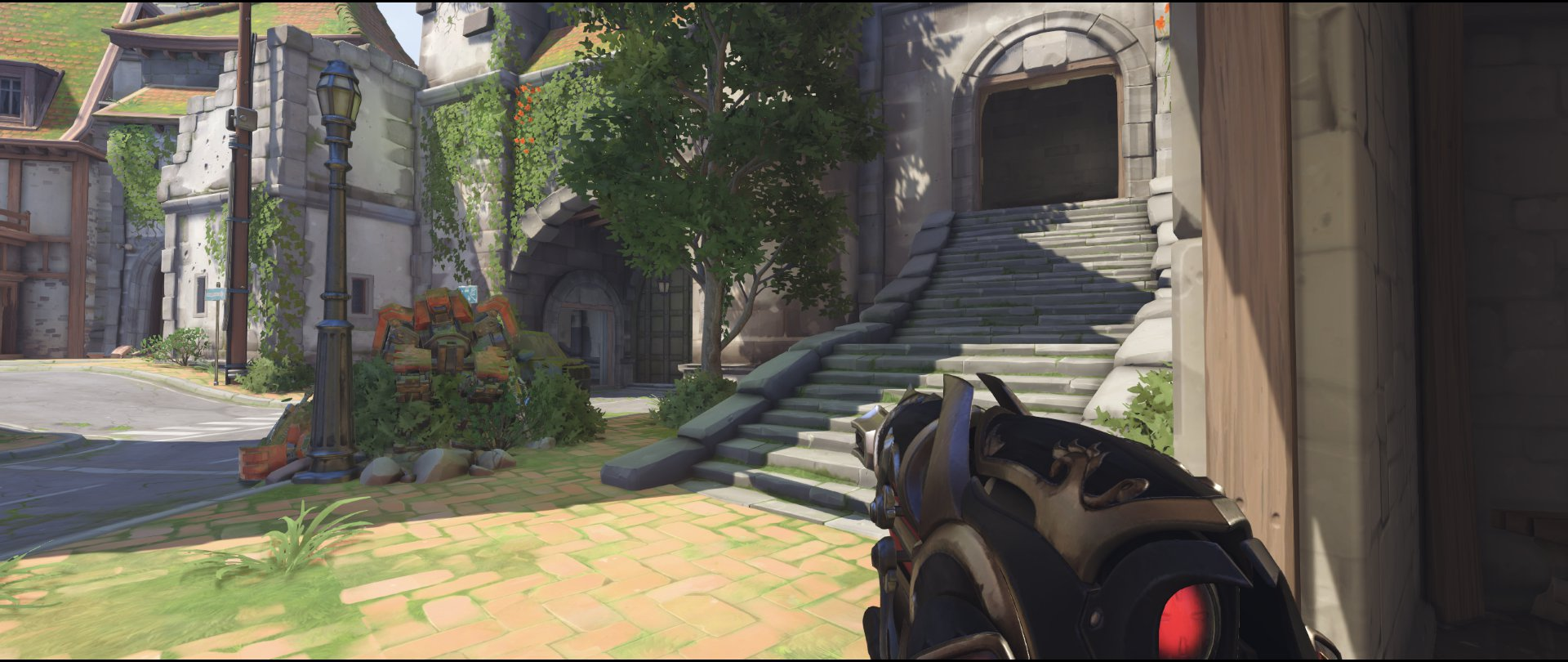 Outside right side first point attack sniping spot Widowmaker Eichenwalde Overwatch.jpg