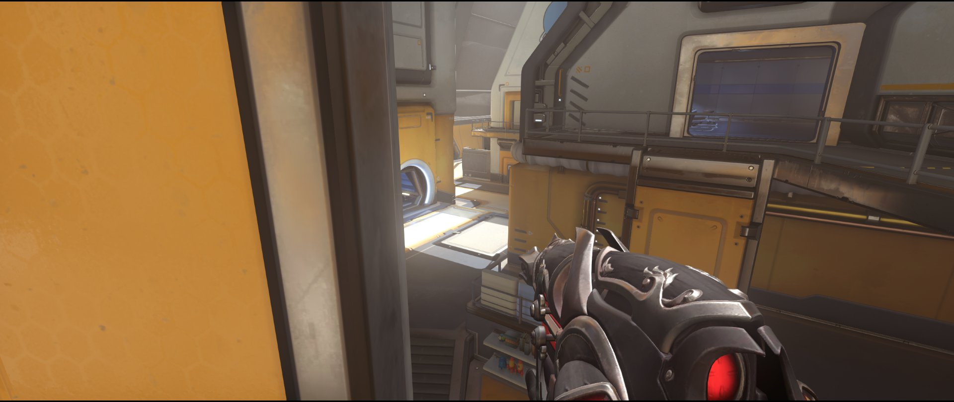 Catwalk+three+defense+sniping+spot+Widowmaker+Horizon+Lunar+Colony+Overwatch