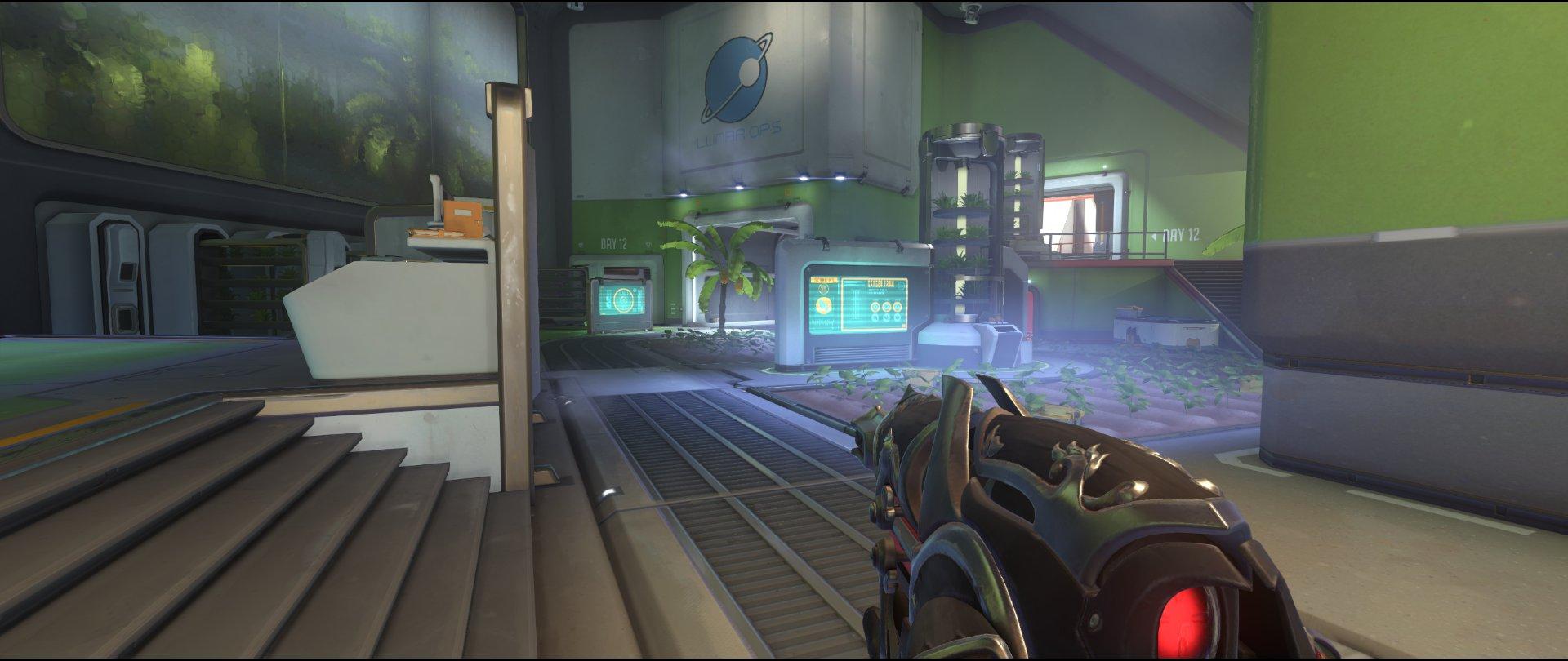 Hothouse attack sniping spot Widowmaker Horizon Lunar Colony Overwatch